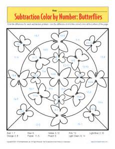 color by subtraction kindergarten math worksheets color by number color by