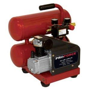 pro 4 gallon side stack air compressor with 9pc accessory kit and 25ft coil hose