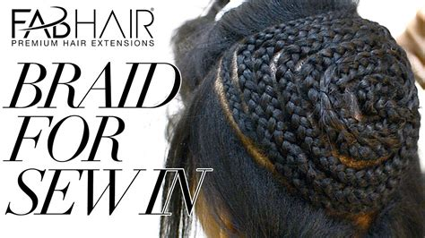 how to braid for sew in weave hair extensions