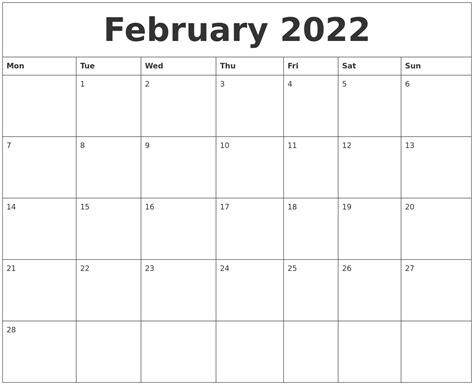 february 2022 birthday calendar template