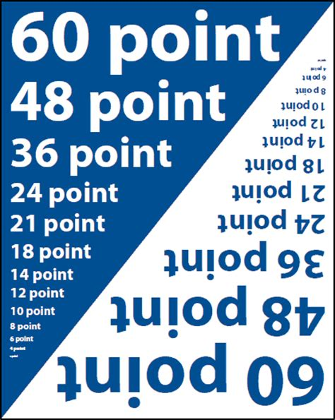 printed font size chart graphic arts printing design guide with cmyk color chart