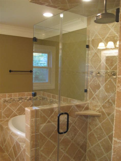 Southwest Houston Bathroom Remodel Recraft Homes Stand Up Shower Glass Door
