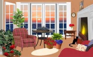 Livingroom Pictures by Clipart Fictional Living Room With An Ocean View