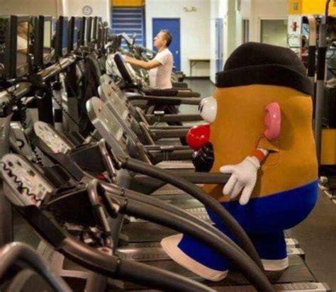 Potato Exercise by Mr Potato On Treadmill