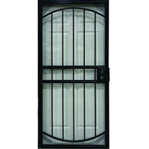 shop larson geneva black steel security door common