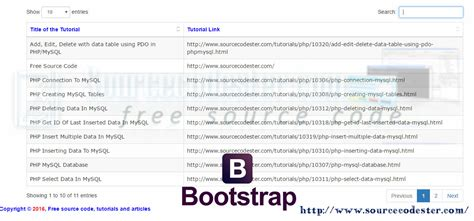 tutorial bootstrap data table how to use datatables in bootstrap free source code