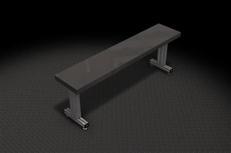 sheet metal bench bench made with 80 20 and sheet metal 303ss autodesk
