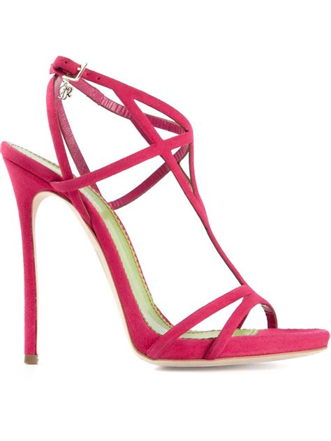 dsquared 178 strappy sandals in pink pink purple lyst
