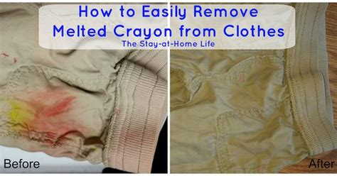Remove Crayon From by How To Easily Remove Melted Crayon From Clothes Crayons