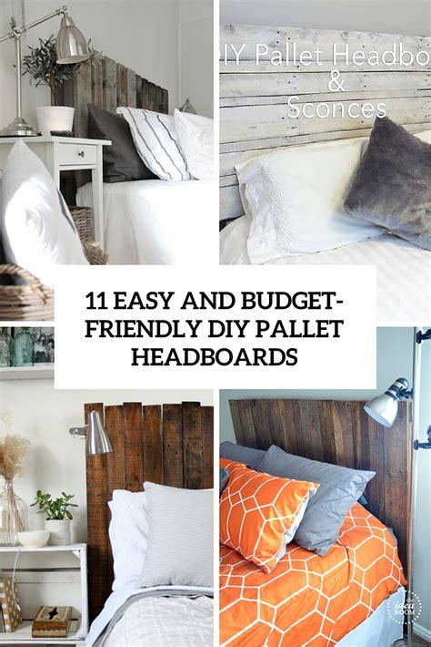 easy  budget friendly diy pallet headboards shelterness