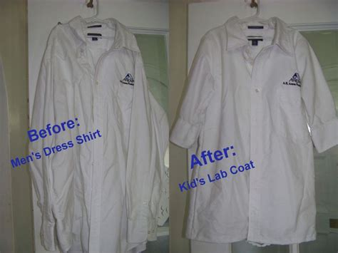 pattern for childrens lab coat how to make a kid s lab coat out of a men s shirt teach