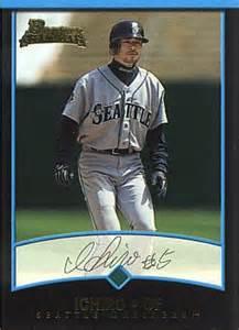 Ichiro Suzuki Rookie Card Ichiro Suzuki Rookie Card 2001 Bowman Draft Picks