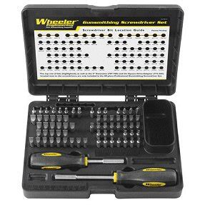 wheeler basic 72 gunsmith screwdriver set