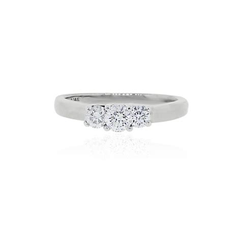 platinum 14k white gold 50ctw engagement ring