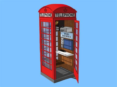 london s iconic phone booth evolves into a work pod for