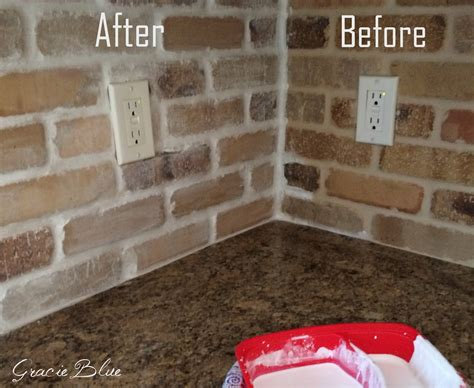brick backsplash tile diy whitewashed brick backsplash