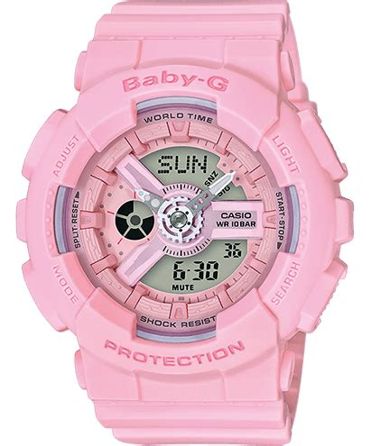 G Shock Baby G Bga 110 Baby Pink baby g from casio be tough be cool be baby g
