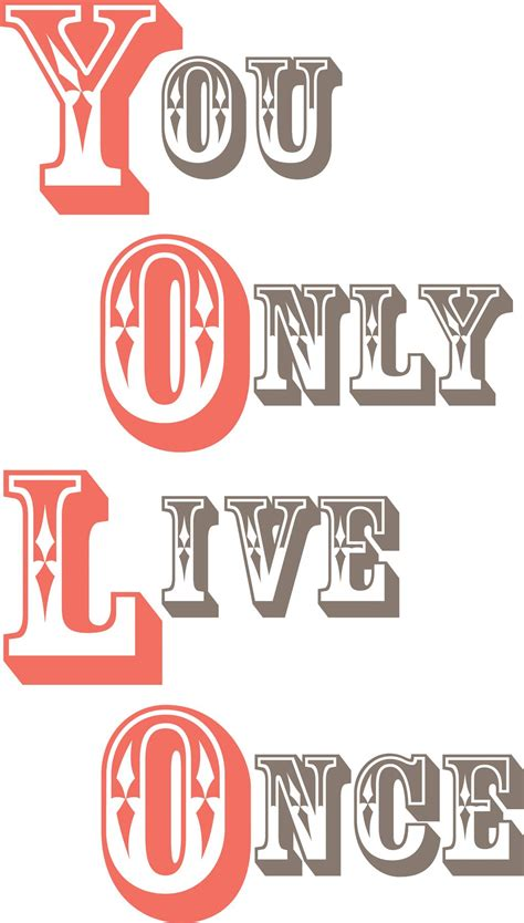 Yolo You Only Live Once yolo you only live once wall quote wall sticker set