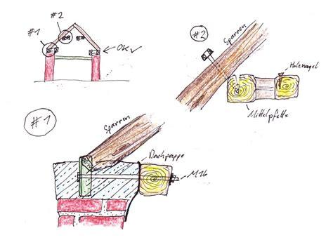 Wie Baue Ich Einen Dachstuhl 5999 by Dachstuhl Pfette Ausbessern Eigenkonstrukt De