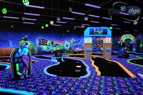 black light putt putt 75 blacklight mini golf dayton local photos