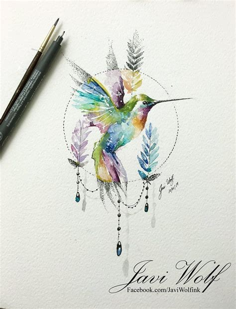 hummingbird watercolor tattoo best 25 hummingbird watercolor ideas on