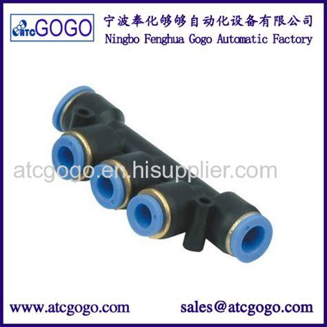Fitting Pneumatic T Ukuran Selang 4mm 5 way pneumatic pipe fitting pu hose connector 4mm 6mm 8mm 10mm 12mm 14mm 16mm manufacturers and