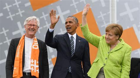 Barack Obama Lebenslauf Auf Evangelischer Kirchentag Obama Und Merkel Drehen Das Gro 223 E Historische Rad Rbb Rundfunk