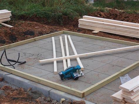 gartenhaus fundament bauen gartenhaus selber bauen 187 ratgeber 187 baustoffshop de
