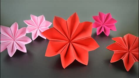 Origami Poinsettia Flower - origami flower poinsettia in
