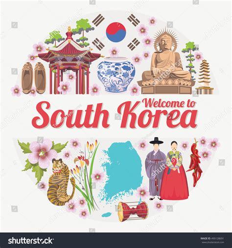 analog layout jobs in south korea south korea travel vector poster korean 스톡 벡터 490128691