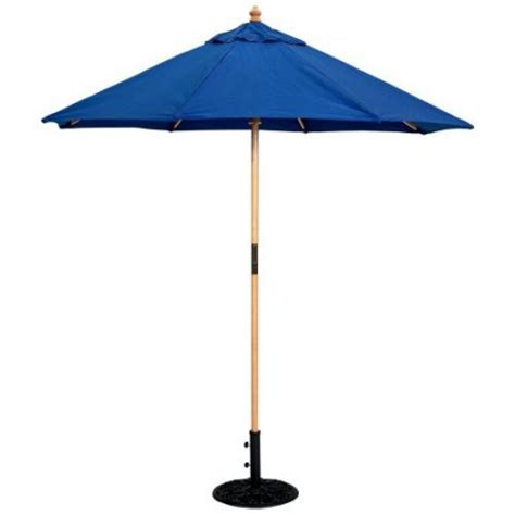 5 Ft Patio Umbrella Galtech 7 5 Ft Wood Patio Umbrella Walmart