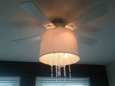 diy ceiling fan chandelier update an old ugly ceiling fan by attaching a plain old