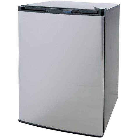 cabinet with mini fridge cal 4 6 cu ft mini refrigerator in stainless steel with black cabinet bbq09849p the