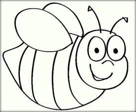 bee coloring pages kids color zini