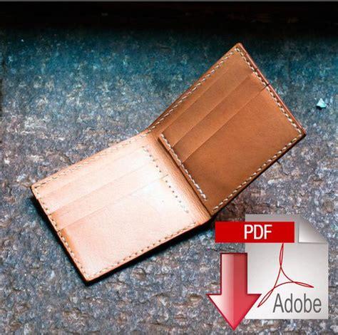 folded wallet card template classic leather bi fold wallet digital template a4