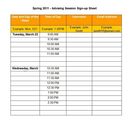 potluck sign up sheet calendar template 2016