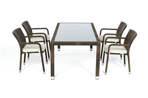 Brauns Furniture by Garden Furniture Orlando Rattan Garden Dining Set 180 Table And Chairs In Mixed Brown