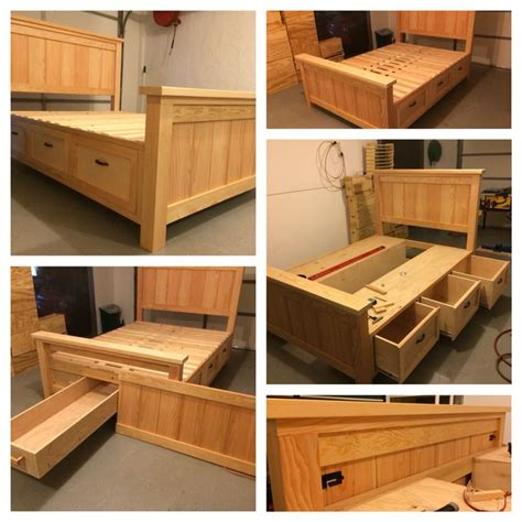 diy bed frame with drawers best 25 queen size storage bed ideas on pinterest diy