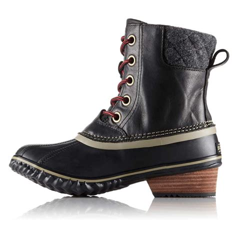 womens insulated boots sorel slimpack ii s black insulated boot 1702251010