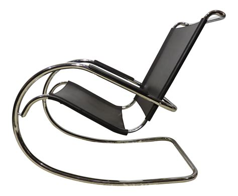 Midcentury Rocking Chair by Mies Der Rohe Chair History Midcentury Steel