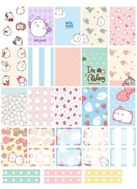 printable stickers journal free printable molang planner stickers from counting