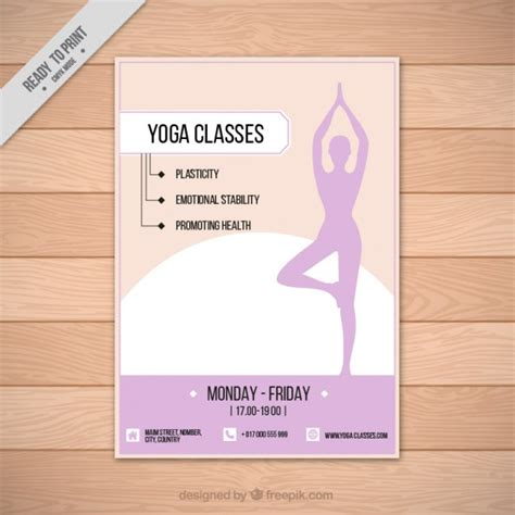 Hand drawn woman silhouette yoga flyer Vector   Free Download