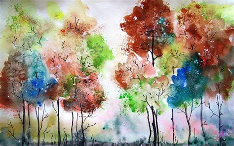 painting for pc free watercolor painting trees colors wallpaper and