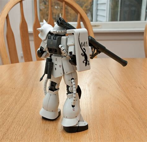 Mg Zaku White Ogre completed the mg zaku ii ms 06j quot white ogre quot mostly harmless