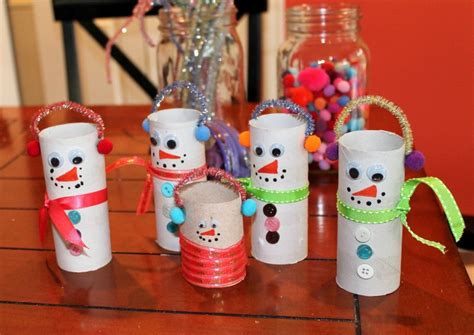 Snowman Toilet Paper Roll Craft - friday