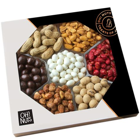 christmas holiday gourmet food baskets nuts gift basket mixed nuts 7 different nuts five star gift baskets gourmet nut gift tray assorted gift basket grocery gourmet food