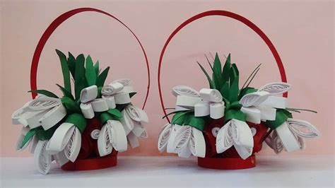 How To Make Paper Flower Basket - papercraft how to make 3d origami small basket with flower