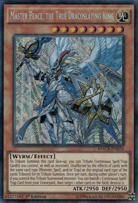 alte yugioh decks master peace the true dracoslaying king yu gi oh
