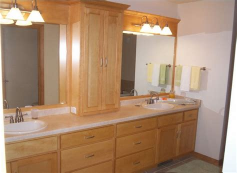 coloured bathroom cabinets natural color bathroom cabinets double sink with light