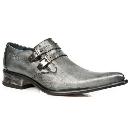 steel grey leather formal shoes for shoes